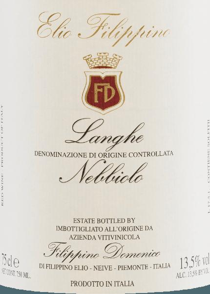 Langhe Nebbiolo DOC 2016 - Elio Filippino von Elio Filippino