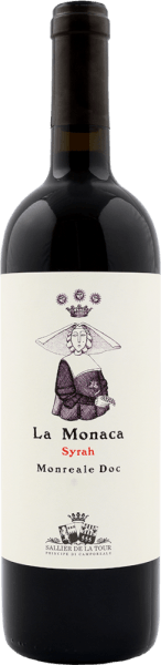 Tenuta Sallier de la Tour's La Monaca Monreale DOC is a complex and powerful red wine that is able to convey the typical aromas of Syrah grapes to perfection. In the glass, the La Monaca Monreale DOC shows itself in a strong ruby red. On the nose it reveals the typical aromas of the Syrah grape with penetrating spicy and aromatic herbal notes. Deep notes of dark berries, plum compote and cedar reach the nose. These flavours can also be tasted on the palate. Here the balsamic texture of this pure Syrah unfolds. The intense fruit is balanced by a juicy acidity. Fine tannins flatter the tongue and the finish is long and lasting. Vinification of La Monaca Monreale DOC by Sallier de la Tour Standing in a trellis and growing on clay soil, the Syrah develops on the south-west facing vineyards 350 metres above sea level in the DOC Monreale, especially in the Jato valley, where the Syrah vines are almost ideally located. The yield is low, the quality and concentration of the grapes is high. The Syrah grapes are selectively harvested by hand and fermented at 25-30°C in the steel tank in contact with the skins. Malolactic fermentation is complete. The wine then matures for 14 months in French oak from Alliers and Troncais and then remains in the bottle for another 6 months. This wine is made 100% from Syrah grapes, a grape variety whose exact origins are unknown to this day, spread all over the world, which has developed into a real terroir wine in Sicily. It is of great interest to the winery as it has developed a considerable potential in Sicily and has thus become the expression of a Sicilian terroir variety. Food pairings for La Monaca by Sallier de la Tour Serve and enjoy this expressive red wine from Sicily at 16-18°C in a carafe with grilled meat, lamb and mature cheese. Awards for La Monaca by Sallier de la Tour Gambero Rosso: 2 glasses for 2012 and 2008 The Wine Advocate Robert M.Parker: 92 points for 2012 Falstaff: 91 points for 2013