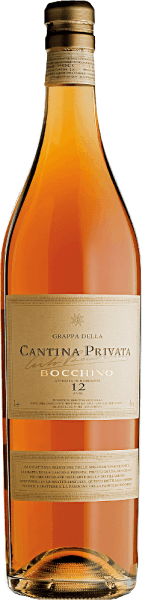 This vintage grappa is made from a coupage made from the marc of 65% Nebbiolo da Barolo and Nebbiolo da Barbaresco grapes and 35% Moscato grapes and represents the centuries-old distillation art and tradition of Bocchino. The vintage selections of the Cantina Privata of Distilleria Bocchino express the full significance of a century of hard work. Only the best vintages are included in the selection of Cantina Privata, traditional ones sorted by grape variety are distilled in copper alambics and then individually aged for at least 8 years in French oak barriques from the best regions of origin. One year before bottling, the vintage selections of the grape varieties are combined in a large wooden barrel to harmonise and stabilise.