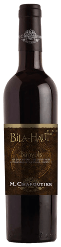 Banyuls Rouge Bila-Haut AOC by M. Chapoutier, a natural Vin doux from the wine region of Banyuls in the French Roussillon. The Banyuls Rouge Bila-Haut AOC by Maison M.Chapoutier shines in the glass powerful deep garnet red. In the bouquet black berries shifting with small red fruits, giving a beautiful freshness, gently complemented by cocoa notes. On the palate, this natural sweet wine from Banyuls unfolds a sumptuous balance between the sunny power of the wine and the finesse of the tannins. In the finish long lasting, with a sweetness that becomes an absolute pleasure. Vinification of the Banyuls Rouge Bila-Haut AOC by M.Chapoutier The Banyuls Rouge Bila-Haut AOC by M.Chapoutier is a Vin doux naturel from 100% Grenache grapes, harvested very ripe, almost rosinized, selectively hand picked, destemmed, crushed and macerated. By adding high alcohol, the fermentation is stopped for the Mutages sur Grains, a process from the year 1285, to extract fruity notes and tannins. The wine then matures in vats for 8 months. After bottling, another ageing over 3 months. Food pairing for the Banyuls Rouge Bila-Haut AOC by M. Chapoutier Enjoy this natural red sweet wine from the south of France! It's a pleasure solo but it tastes great with dark chocolate, dry pastries, desserts with caramel, with chocolate and dark fruits or dry fruits.