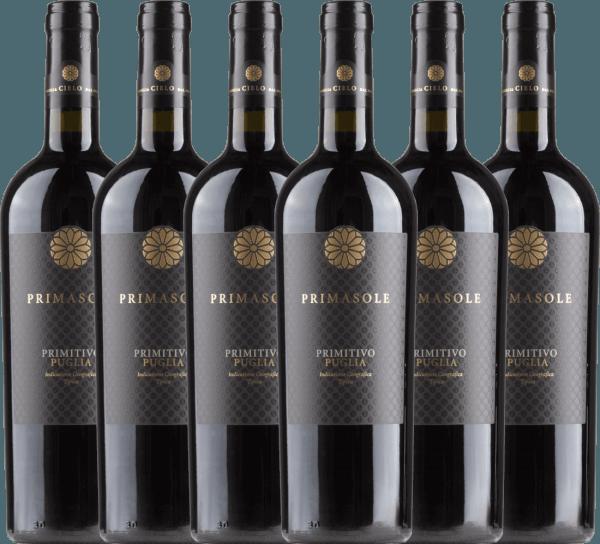 6er Vorteils-Weinpaket - Primasole Primitivo 2019 - Cielo e Terra