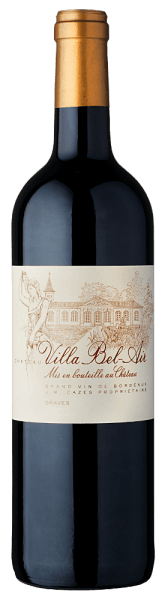 The Château Villa Bel Air Graves Rouge AOC by Château Villa Bel Air has a purple-purple colour in the glass. Cabernet Sauvignon and Merlot, combined with a small part of Cabernet Franc in this cuvée. The bouquet exudes aromas of violets and ripe red fruits as well as woody hints of vanilla. A structured body and a long, round finish with liquorice tannins make it a very special wine. Food recommendation for the Château Villa Bel Air Graves Rouge AOC We recommend it with raw and cooked cold cuts, fine beef fillet in dark sauce, veal, pork, fresh fruit salad, tartlets with red fruits, chocolate and coffee desserts as well as soft cheese and raw milk cheese. Awards for the Château Villa Bel Air Graves Rouge AOC Mandus Vini: Great Gold' Best of Show Bordeaux' (2012) Wine Spectator: 90 Points (2010)