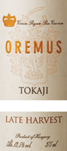 The Tokaji Late Harvest from Tokaj Oremus is a wonderful, full-bodied dessert wine from the grape varieties Furmint (50%), Zeta (25%), Harslevelü (20)% and Muscat de Lunel (5%).  In the glass, this wine shines in a bright golden yellow with glittering highlights. The aromatic bouquet reveals a variety of aromas of juicy vineyard peaches, ripe quinces and fresh citrus fruits - accompanied by white summer flowers and acacia honey. This Tokaj pampers the palate with a lush fruit fullness of apricot, pear and lemon. The juicy sweetness harmonizes perfectly with the fine, elegantly balanced acidity. The finale comes with a beautiful length.  Vinification of Oremus Late Harvest Tokaji The harvest of the grapes begins in mid-September and lasts until the beginning of October. In several passes, the berries are carefully picked by hand and then immediately brought to the wine cellar of Oremus. The grapes are always gently pressed in small quantities and the must is then fermented in new barrels of Hungarian oak (partly 136-litre Goncer barrels and partly 220-litre Ceredny barrels). After the fermentation process is complete, this dessert wine is aged for 6 months in Hungarian oak barrels. Finally, this wine is bottled and rounded off harmoniously in the wine cellars for at least 15 months.  Food recommendation for late harvest Oremus Tokaj  Enjoy this noble sweet Tokaj from Hungary with all kinds of desserts with fresh fruits or even with fine shortage luggage. But this wine also goes perfectly with spicy goose liver paste or matured soft cheeses.