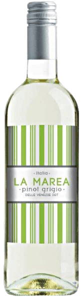 The Pinot Grigio del Veneto IGT of La Marea appears in the glass in a bright yellow, which is permeated by greenish reflections. The bouquet of this white wine from Italy unfurls fresh aromas of citrus and a hint of sweet almond. These notes continue on the palate. The La Marea Pinot Grigio leaves a fresh impression with its crisp acidity. Food recommendation for the Pinot Grigio del Veneto IGT of La Marea Enjoy this dry white wine as an aperitif, with couscous with salmon or mozzarella with melon and ham.