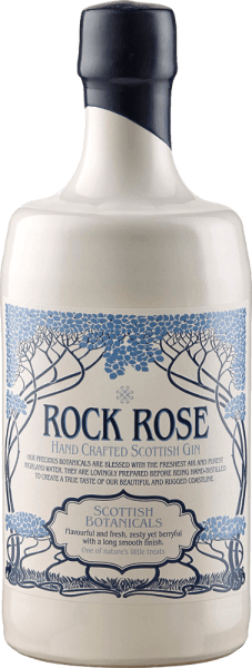"""The Rock Rose Gin from Dunnet Bay Distillery reveals in the glass a fine bouquet of fresh roses, subtle alcohol and berry notes of birdberries, hawthorn berries and sea buckthorn. The 18 different botanicals give this Scottish hand crafted gin its incredible complexity. The Italian juniper gives it depth and warmth, the Bulgarian juniper provides fresh citrus notes. In the long finish, this exceptional gin convinces with its creaminess and delicate spice notes. Serving recommendation for the Rock Rose Gin Enjoy this gin pure, in the classic gin & tonic or try a """"Vin Chill Factor"""". Vin Chill Factor4cl Red Wine 4 cl Rock Rose Gin 2 cl Grenadine syrup Shake these ingredients with ice and then top up with Prosecco. Awards for the Rock Rose Gin from Dunnet Bay Distillery Great Taste: Top 50 Scatland's Speciality Food Show: Best Product San Francisco World Spirits Competition: Bronze Scotland of Food and Drink Excellence Awards: Finalist Retail Product"""