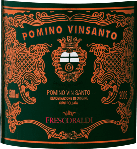 The Pomino Vinsanto DOC by Castello Pomino by Frescobaldi is intensely amber-coloured with red-gold reflections. The nose reveals a bouquet of sweet notes, from creamy caramel and honey to spiced cakes, with distinct hints of vanilla and nutmeg and a clear alcoholic note. Elegance and warmth surprise on the palate, with a soft taste and fresh, lively acidity that is still present even after years of storage. Long and persistent in the finish, with a wonderful aftertaste of roasted hazelnuts and nutshells. Production of the Pomino Vinsanto of Castello Pomino by Frescobaldi This classic Tuscan sweet wine from Castello Pomino is vinfied from the native Trebbiano, Malvasia toscana and San Colombano grapes grown in the Frescobaldi family vineyards. Malolactic fermentation takes place in wooden barrels during the long ageing process, the ageing period is 4 years. Recommendations for the Pomino Vinsanto by Castello Pomino The Vinsanto is a wine for contemplative occasions, for festivities, as the crowning touch at the end of a dinner, as a meditation wine that goes well with dried fruits and sweet pastries. It is recommended to serve it in large glasses. Awards James Suckling - 94 Points