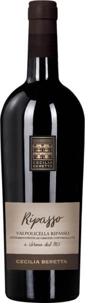 The Valpolicella Ripasso Superiore by Cecilia Beretta shines in the glass in an intense ruby red and reveals its wonderful bouquet with the aromas of wild berries. These fruity notes are rounded off by subtle nuances of undergrowth and roasted aromas. This Ripasso Superiore convinces on the palate with the impressions of ripe berries and a fine melt. This powerful, soft and harmonious wine ends in a long, fruity finale. Vinification for the Valpolicella Ripasso Superiore by Cecilia Beretta This red wine cuvée is vinified from the grape varieties Corvina, Rondinella and Molinara. The grapes for this are from Veneto and were strictly selected. This red wine is produced according to the Ripasso Superiore method, which means that the grapes are first dried on drying racks. This results in a concentration of the flavors. The ageing for this Italian wine took place for 12 months in barrique barrels. Food recommendation for Valpolicella Ripasso Superiore by Cecilia Beretta Enjoy this dry red wine with duck leg with orange sauce and couscos or with a western steak with potato roast.