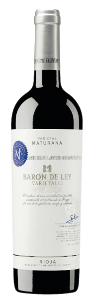 The Maturana grapes for this deep purple Rosso thrive in the lowlands of Rioja Baja. The Varietal Maturana of Baron de Ley presents the aromas of chocolate, coffee, tobacco and blackberries excellently.In the mouth it is full of power and length.  Serve with roasted lamb, beef and intensively spiced dishes.
