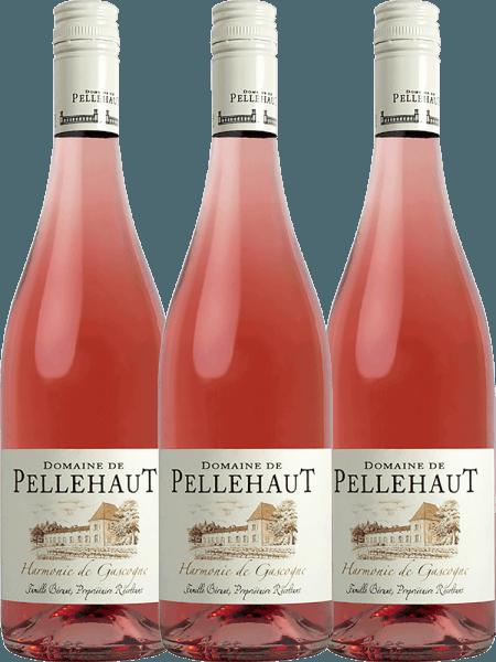 3er Vorteils-Weinpaket - Harmonie de Gascogne Rosé 2020 - Domaine de Pellehaut
