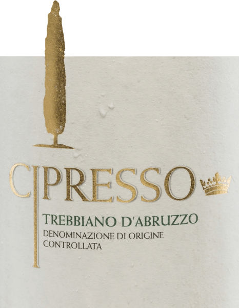 The Trebbiano d'Abruzzo from Cipresso is a pure white wine made from the Trebbiano grape and delights with its bright straw yellow colour. In the nose, wonderful aromas of ripe citrus fruits with floral hints unfold. On the palate, this Italian white wine is fresh and fruity with a good structure and a long finish. Food recommendation for the Cipresso Trebbiano d'Abruzzo Enjoy this dry white wine from Italy with crustaceans and fish dishes or serve it as an aperitif.