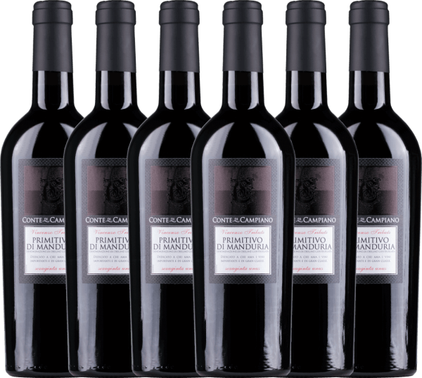 6er Vorteils-Weinpaket Primitivo di Manduria DOC 2019 - Conte di Campiano