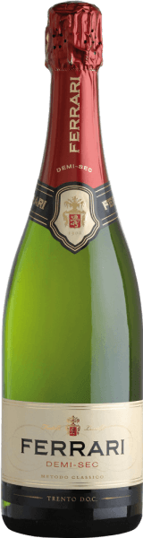 This sparkling wine presents itself with straw yellow colour and represents the lovely variant of the Metodo Classico. The Ferrari Demi-Sec by Ferrari is enchanted by a bouquet of delicate yeast aromas, field flowers and ripe apples. In terms of taste, it impresses with its harmony and cleanliness with aromas of crispy bread and ripe fruits. It is a pleasant companion to the end of a meal and dessert. Awards of Ferrari Demi-Sec by Ferrari Gambero Rosso: 2 glasses 2010