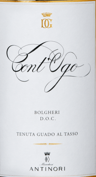 Cont 'Ugo Bolgheri DOC by Guado al Tasso ranks among the top wines of this fine Marchesi Antinori winery. Cont 'Ugo Bolgheri shines beautifully red in the glass, with intense notes on the nose, well-integrated notes of ripe cherries and blueberries, complemented by appealing aromas of candied fruit and sweet spices. On the palate, Cont 'Ugo presents itself soft, balanced and sustainable in taste, a wine characterized by harmony and pleasure to the long fruity aftertaste. Vinification of Cont 'Ugo Bolgheri DOC by Guado al Tasso Since 2011, it has been possible to exploit the potential of the vineyards in the Bolgheri DOC cultivation area for a pure Merlot. For the Cont 'Ugo Bolgheri DOC, the best Merlot grapes from the vineyards of Guado al Tasso were selected, harvested manually and selected again in the wine cellar. Alcoholic fermentation and maceration takes place in stainless steel tanks. The fermentation temperature is controlled according to the degree of ripeness of the grapes: some at low temperatures to obtain a better aromatic freshness, others at 30°C, for better extraction of the polyphenols and for the structure. These so different merlots are now filled separately into barriques, 1/3 of which are new, in which the malolactic fermentation is completely carried out by the end of the year. This is followed by 8 months of ageing in French oak barriques, the best batches are combined and the Merlot cuvée is aged for a further 4 months in barriques. After bottling, the wine rests in the bottle store for another 6 months before it is sold. Food pairings for the Cont 'Ugo Bolgheri DOC by Guado al Tasso Enjoy this excellent merlot from Bolgheri with pasta with meat sauces, risotto with mushrooms, wild boar ragout, ripe cheeses, cold cuts, game of all kinds. Awards for Cont 'Ugo Bolgheri DOC by Tenuta Guado al Tasso Wine Advocate Robert M.Parker: 91+ points for 2015 Vinum: 16 of 20 points for 2015 Wine Spectator: 93 points for 2015 and 2013 James Suckling: 92 poi