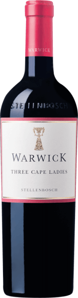 The Three Cape Ladies from Warwick Estate shines in a deep, powerful ruby red with delicate violet reflections in the glass. Full-fruity aromas of plum and cranberry flow into the nose. The opulent fruit aromas explode in the mouth and in the full-bodied body combine aromas with fine-grained tannins, underpinned by the typical aroma of pinotage after pencil lead. The powerful body of this cuvée is accompanied by a well-balanced structure and gives the red wine great elegance. Fine spice after cigar box underline the character of this red wine. Food recommendation for the Three Cape Ladies This red wine from Stellenbosch goes well with meat dishes such as the South African Bunny Chow. Awards for the Three Cape Ladies of Warwick Estate John Platter: 4,5 Stars Tim Atkin: 91 points