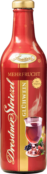 Multifruit Dresdner Striezel mulled wine The Dresdner Striezel mulled wine Multifruit from Lusatia is produced according to an old traditional recipe. Berries meet cherry, apple and pear in this mulled wine. This wonderfully fruity composition makes this Dresden mulled wine a very popular hot drink in the cold season. Enjoy the typical Dresden pleasure according to your winter mood. No deposit!