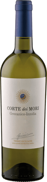 The Terre Siciliane Grecanico-Inzolia IGT by Corte dei Mori - Cantine Francesco Minini appears in the glass in a light straw yellow and enchants with its wonderful bouquet, which is soft and inviting with its youthful fruit notes. This cuvée from the Grecanico and Inzolia grape varieties is pleasant on the palate with the notes of orange blossoms and pleasantly soft and round. Food recommendation for the Terre Siciliane Grecanico-Inzolia IGT from Corte dei Mori - Cantine Francesco Minini Enjoy this dry white wine with fish and shellfish, pasta, poultry and light meat, vegetables and risotto or as an aperitif. Awards for the Terre Siciliane Grecanico-Inzolia IGT by Corte dei Mori - Cantine Francesco Minini Berliner Winetrophy: Gold (vintage 2011) Berliner Winetrophy: Gold (vintage 2010)