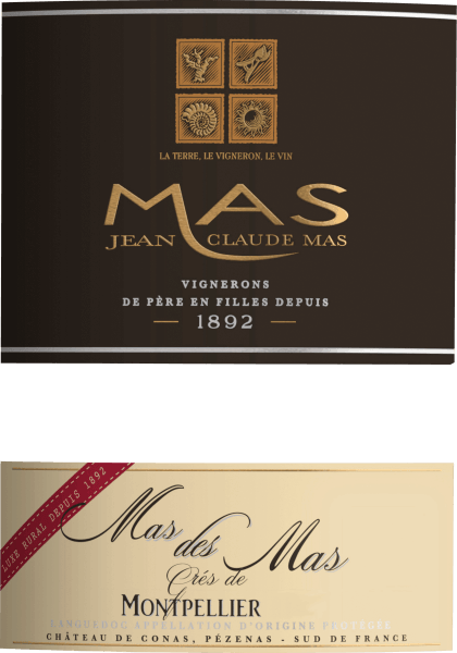 The powerful Mas des Mas Grés de Montpellier from Les Domaines Paul Mas flows into the glass with a dense crimson colour. When the wine glass is swivelled, this red wine reveals a high viscosity, which can be seen in clear church windows at the edge of the glass. To the nose, this Les Domaines Paul Mas red wine presents all kinds of blackberries, morello cherries, blackcurrants, mulberries and plums. As if this wasn't already impressive, cocoa beans, cinnamon and black tea are added to the wine by ageing it in large wooden barrels. This dry red wine from Les Domaines Paul Mas is something for purists who like it absolutely dry. The Mas des Mas Grés de Montpellier is already quite close to this, as it was vinified with just 1 gram of residual sugar. On the tongue, this powerful red wine is characterized by an exceptionally balanced texture. Due to its lively fruit acidity, Mas des Mas Grés de Montpellier is exceptionally fresh and lively on the palate. In the finish, this red wine from the Languedoc wine growing region finally inspires with considerable length. Once again there are hints of black cherry and plum. Vinification of Les Domaines Paul Mas Mas of Mas Grés de Montpellier The powerful Mas des Mas Grés de Montpellier from France is a cuvée made from the grape varieties Garnacha, Mourvèdre and Syrah. Of course, Mas des Mas Grés de Montpellier is also determined by more than just the Coteaux du Languedoc soil. This Frenchman can be described in the best sense of the word as a wine of the old world, which presents itself in an exceptionally distinguished manner. After the manual harvest, the grapes reach the winery by the quickest route. Here they are sorted and carefully broken up. Fermentation then takes place in large wooden vats at controlled temperatures. Once fermentation is complete, the Mas des Mas Grés de Montpellier is aged for a few months in oak barriques. Recommended food for Les Domaines Paul Mas Mas des Mas Grés de Montpellier Drink this red wine from France ideally tempered at 15 - 18°C as an accompaniment to leek soup, goose breast with ginger-red cabbage and marjoram or leek tortilla.