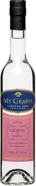 Lorenzo Inga's My Grappa di Barolo is a clear marc brandy characterised by the characteristics of the Nebbiola da Barolo grapes. This gives it a tart fruitiness and a spice of tobacco and undergrowth. This powerful grappa leaves a mature and harmonious impression on the palate with a subtle note of iris. Serving recommendation for the My Grappa di Barolo by Lorenzo Inga Enjoy this marc as an aperitif or digestif.