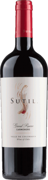 Carmenère Grand Reserve Colchagua Valley 2016 - Sutil Family Wines