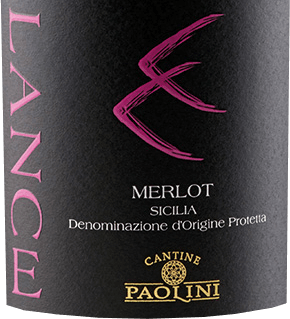 Lance Merlot by Cantine Paolini from the Italian wine region DOCSicilia is a varietal, balanced and soft red wine. This wine appears with an intense ruby red with purple highlights: the expressive bouquet comes with a real firework of fruits. Delightful aromas of juicy cherries are revealed, supported by the berry nuances of mulberries, cranberries and raspberries. This typical Sicilian red wine convinces on the palate with its soft tannins and balanced acidity. The velvety texture is carried by aromas of black cherries in a long and aromatic aftertaste. Vinification of Catine Paolini Lance Merlot The vines for this Merlot are rooted on clayey soils in Sicily. After harvesting by hand, the grapes are gently pressed and then the alcoholic fermentation with maceration on the skin takes place for about 12 days. After malolactic fermentation, this Italian wine is aged for 6 months in large oak barrels and then in cement tanks. After bottling, this wine matures for another 6 to 8 months in bottle. Food recommendations for the Lance Merlot Cantine Paolini Enjoy this dry red wine with pasta, arancino (fried rice balls), red meat and sheep cheese. Awards for Lance Merlot by Cantine Paolini Luca Maroni: 89 points for 2014