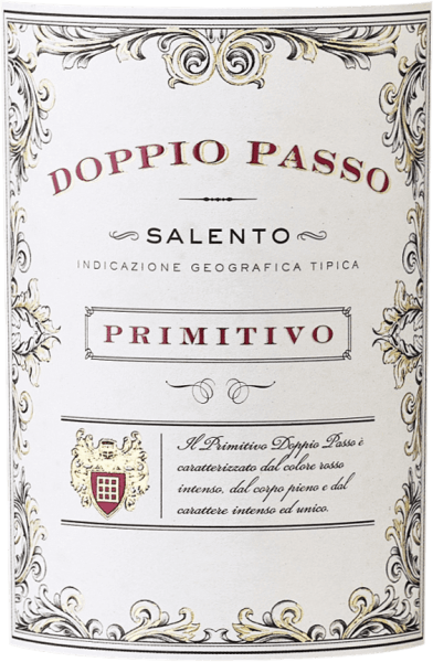 """The Doppio Passo Primitivo from the Apulian region of Salento is reflected in the glass in a beautiful ruby red with purple reflections. The bouquet of this red wine from Italy exudes a wonderful mix of dark berries, cherries, herbs and spices. On the palate, this semi-dry primitivo from Salento immediately appears juicy, but without this massive fleshy body, which can sometimes be exhausting. Instead, the Doppio Passo Primitivo has a great density of flavours with many facets, well-integrated tannins and a persistent, fruity finish. Vinification of CVCB's Doppio Passo Primitivo The Doppio Passo Primitivo by Casa Vinicola Carlo Botter retains its individuality through its production method.The special feature of this process is that after the first fermentation, the wine is again placed on the skins in order to ferment there a second time. During this """"double course"""" (ital. doppio passo) colour and aroma are macerated from the shells once more. The result is a wonderfully soft, full-bodied and exceptionally nuanced wine of unique flavour density. Our verdict: """"Super tasty!"""" The Doppio Passo Primitivo fromCasa Vinicola Carlo Botter has so far been available in retail stores in this equipment (green Bordeaux bottle with a white label) and has been supplemented since the beginning of 2017 by the Doppio PassoRosé, the Doppio Passo Bio and upwards by the Doppio PassoRiserva. The response so far has been very promising. Food recommendation forDoppio Passo Primitivo We recommend thewineDoppio Passo Primitivo with dark meat and grilled food. Awards for the Doppio Passo Primitivo Salento Berlin Wine Trophy: Gold for 2013 & 2014 Mundus Vini: Gold for 2013"""