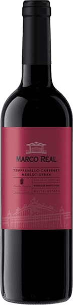 This blend comes in a bold red colour with violet reflections. The Tinto DO Navarra by Marco Real  pampers with aromas of red fruits such as strawberries and raspberries.     In the mouth it literally explodes with a medium body and a lush, perfect and at the same time harmonious taste, before the pleasant finish follows.