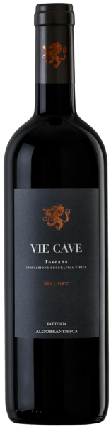 The Vie Cave Toscana IGT from Fattoria Aldebrandesca is presented in very intense ruby red in the glass. On the nose, a complex bouquet opens up with fragrances of ripe, dark fruits that alternate gently with spicy aromas, liquorice, coffee and soft vanilla notes. Silky, engaging and of beautiful balance and sustainability on the palate, in the long reverberation appear again hints of ripe, dark fruits, as well as coffee and liquorice. Vinification of the Vie Cave Toscana IGT by Fattoria Aldebrandesca This red wine is dedicated to the caves, ancient Etruscan passages carved in tufa stone, which can be found throughout Sovana as well as in the Fattoria Aldebrandesca and reveal a very old, branched network of paths. Malbec, a French grape variety that is still relatively new in Italy, has found an ideal terroir in the volcanic Maremma. The grapes of the vines newly cultivated here a few years ago are harvested optimally ripe at the end of September or the beginning of October. In the wine cellar, they are destemmed and gently pressed and then filled into stainless steel tanks. The first maceration phase takes place at low temperature for 3 to 4 days in order to extract the aromatic substances and the anthocyanins in the shells, then the must temperature is increased so that the yeasts can be added, the alcoholic fermentation takes place at 30 ° together with the continuous gentle maceration for one week in order to obtain the gentle tannins. After peeling, the wine is transferred to French oak barriques, where malolactic fermentation is carried out, followed by 10 months of ageing. The Vie Cave rests in the bottle for another 14 months before it comes on the market. Food recommendation for the Vie Cave Toscana IGT by Fattoria Aldebrandesca A fruity, soft red wine that goes very well with meat dishes, the barbecue party, pasta and rice with savoury ingredients. Awards for the Vie Cave Toscana IGT by Fattoria Aldebrandesca Wine Spectator: 92 points for 2012 Bibenda: 4 grapes for 2011
