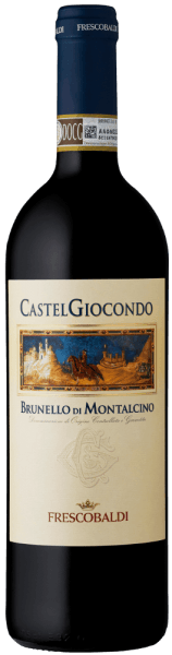 The lively red color of the Brunello di Montalcino DOCG by Tenuta di Castelgiocondo by Frescobaldi is reminiscent of a luminous ruby with deep red nuances. A mixture of violets and wild berries, especially blackberries, characterize the bouquet. These are accompanied by spicy aromas of black pepper and cardamom, followed by balsamic notes of juniper and roasted aromas of coffee and hazelnuts. A gentle opening leads to a soft, full palate with a strong, elegant tannin framework and a lush body. In the long and warm finish of the CastelGiocondo Brunello di Montalcino, however, tastes after spices and intense fruit notes. This elegant, well-balanced top Brunello made of Sangiovese is of great structure and finesse and has been produced since the 18th century on the CastelGiocondo fortress above the winery of the Frescobaldi. The historical significance is also reflected in the label of the wine. The figure of the Cavaliere is adorned by a fresco by the famous Sienese painter Simone Martini. Food pairing for the CastelGiocondo Brunello di Montalcino DOCG by Frescobaldi Serve this mighty Tuscan wine with meat dishes, stews and mature cheese varieties. A splendid red wine, which is also a solo delightful experience. Awards James Suckling - 93 points for 2011James Suckling - 97 points for 2010Wine Spektator - 90 points for 2010