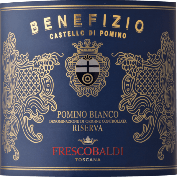 The Pomino Benefizio Riserva DOC by Castello Pomino is a cru of the Frescobaldi family in Pomino in the area of Rùfina. The Pomino Benefizio Riserva shines intensely yellow with very beautiful golden reflections in the glass. The nose reveals the typical notes of citrus fruits of Chardonnay, in particular pink grapefruit and lemon zester jam, accompanied by notes of white flowers, delicate aromas of vanilla and cinnamon, as well as elegant toasted notes. On the palate, this appealing Tuscan white wine is pleasantly fresh, spicy, full-bodied and round. The long finish is reminiscent of white chocolate and creamy mousse. Manufacture of the Pomino Benefizio Riserva by Castello Pomino by Frescobaldi The Cru Pomino Benefizio Riserva is made from Chardonnay grapes that grow on a single vineyard, a monopoly of the Frescobaldi family at an altitude of 700 metres above sea level. This vineyard was planted exclusively with Chardonnay in 1976 and has been making history ever since. The Pomino Benefizio has been Riserva since 2005.After harvesting, the grapes were partially fermented at low temperatures for 12 hours, followed by malolactic fermentation for the most part. The wine ages for 10 months in barriques and finishes maturing with a further 4 months in bottle. The result is a silky smooth wine with an outstanding personality. Food pairing for the Pomino Benefizio Riserva of Castello Pomino Enjoy this white riserva from the north of Tuscany with vegetable cream soups, oven-dried dorade, salmon baked in foil or caviar. It is also a pleasure when drunk alone. Awards James Suckling - 94 points