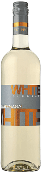 The White Vineyard quality dry wine by Markus Pfaffmann is vinified from Chardonnay and Pinot Blanc grapes. The delicate fruit aromas of this blend exude ripe mirabelle, apricot and even passion fruit. In the mouth it is clear and juicy with an animating fruitiness of mango with stone fruit. On the palate, it reveals itself with a dense and powerful body, firm backbone and straight structure and draws style and posture, rounded off by a lively and very elegant white wine of a good finale with much accompanying exotic fruit.