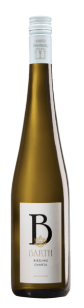 The Riesling Charter QBA from Wein- und Sektgut Barth sparkles golden yellow in the glass and exudes its bouquet with the fine aromas of citrus and apricots. This characterful Riesling from Hattenheim, Rheingau, impresses on the palate with its characterful impression, its fine residual sweetness and its interesting fruit play. The pleasant minerality makes this Riesling particularly balanced. A fruity and raceful white wine, which is the ideal food companion. Vinification for the Riesling Charter The vines for this organic wine are rooted on loess loam soils in the Rheingau. The grapes are selectively picked by hand. Subsequently, spontaneous fermentation takes place in the stainless steel tank, which is followed by a long ripening on the fine yeast. Since 1983, there have been strict criteria for CHARTA wines, which are based on proven Rheingau quality concepts and thus create a recognition value for Rieslingen from the Rheingau. CHARTA wines are produced 100% from Riesling and the grapes are harvested fully ripe from the best vineyards. Food recommendation for the Riesling Charta Enjoy this semi-dry white wine with monkfish in tarragon foam, summer salads and asparagus or with shrimp in garlic oil.