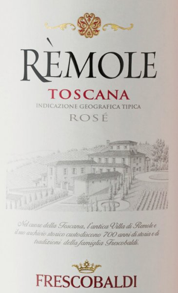 The Rèmole Rosato IGT by Marchesi de' Frescobaldi is produced in the historic Villa Rèmole winery in the northwest of Tuscany. This wonderful rosato made of 100% Merlot shines in a clear rosé tone. On the nose it is light, fresh and with pleasant fruity, berry notes, soft and pleasing on the palate with a clear, well integrated acidity note, an extremely versatile wine. The Rèmole Rosato can be enjoyed as an aperitif and is also excellent with first courses or main courses with fish or vegetables, as a banquet wine, parties and barbecue.