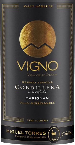 The grapes for the grape variety Cordillera Carignan from Miguel Torres Chile grow in the Valle de Maule in the beautiful Chilean wine-growing region Valle Central. In the glass, this wine shines an intense ruby red with dark red highlights. The aromatic bouquet is dominated by ripe, dark berries. The lush berry fruit is enveloped by fine notes of herbs, spice and smoke. Roasted oak notes and a hint of vanilla are subtly added. The aromatic fruit is also wonderfully present on the palate and merges with the full-bodied body to a wonderful harmony. The firm, yet gentle tannins and the fresh acidity are very well integrated into the body. The round, harmonious finish convinces with a pleasant length and a slightly spicy aftertaste of mint and bay leaf. Vinification of Torres CordilleraCarignan In the months of March and April, the grapes for this red wine are harvested. Once in the wine cellar, the grapes are carefully selected, completely destemmed and mashed. The mash is then fermented for 10 days at a controlled temperature of 25 degrees Celsius in a stainless steel tank. This wine remains on the mash for 25 days, so that the aromas, colour and tannins can be concentrated from the berry peels. After gently removing this wine, it matures for a total of 12 months in French oak barrels. Of these, 30% are new wood and 70% are barrels from first occupation. Food recommendation for the Carignan Miguel Tores Cordillera This dry red wine from Chile is a great accompaniment to fried and grilled poultry, all kinds of pies or even spicy ragouts and spicy pasta dishes.