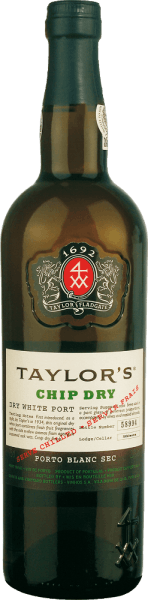 The Chip Dry from Taylor's Port from the Portuguese wine-growing region Douro combines the grape varieties Malvasia, Rabigato, Esgana Cão, Viosinho and Gouveio. In the glass this port shines in a bright straw yellow with green-golden reflections. The seductive bouquet enchants the nose with notes of nuts and dried fruit. On the palate this port wine has a lively fruit - especially juicy peach and ripe grapes - and a surprisingly fresh acidity. The fine residual sweetness highlights the fine nutty spice of the nose and the maturity of this Portuguese wine perfectly. Volume and fullness come to the fore even better. In the long finish this port is wonderfully dry and lively. Vinification of Taylor's Port Chip Dry The grapes for this port wine are harvested by hand in the Douro valley. Vinification takes place in the same way as with a classic port, except that the yeast is allowed to work longer with this dry port than with a sweet port. As soon as the main part of the sugar is fermented, the high percentage distillate is added. Now this port rests over the winter in large barrels until it is shipped to the lodges of Vila Nova de Gaia in spring. There this port wine matures for 4 to 5 years in large, old oak barrels. Food recommendation for the Chip Dry Taylor's Port Douro This dry port is a wonderful aperitif or can also be served as a refreshing long drink (portonic). Simply mix one part Taylor's Chip Dry with two parts Tonicwater and garnish on ice with fresh mint - wonderfully refreshing.