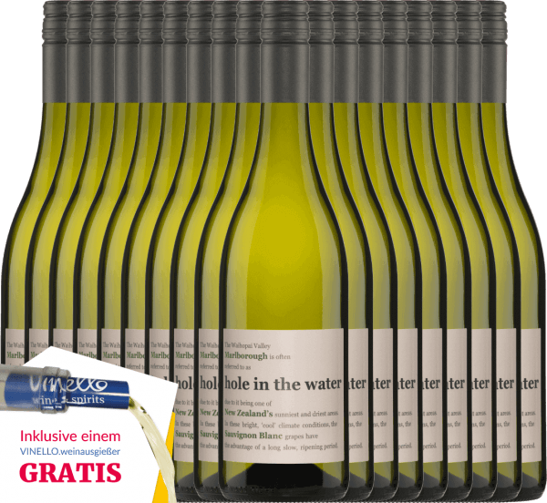 The Hole in the Water Sauvignon Blanc from Konrad Wines has a wonderful harmony between the fresh aromas and the lively acidity. The nose and palate are pampered with notes of gooseberries, freshly cut grass and tropical fruits. Enjoy this New Zealand white wine now with our 18-pack. More information about this New Zealand wine can be found in the article of Konrad Wines Sauvignon Blanc Hole in the Water.
