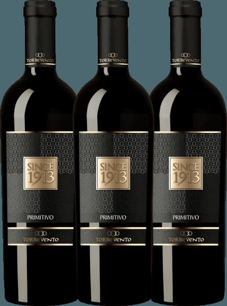 3er Vorteils-Weinpaket - Since 1913 Primitivo Puglia IGT 2016 - Torrevento