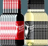 Vorschau: 18er Mixpaket - Bio-Glühwein rot & weiß - Heißer Hirsch