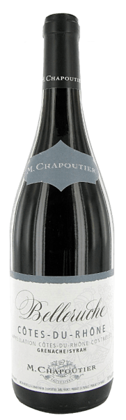 The Belleruche Côtes-du-Rhône AOC by Maison M.Chapoutier from the South of France in the 1.5 l magnum bottle invites you to enjoy with friends and family. The Belleruche presents itself fruity-spicy, with aromas of red and dark berry fruits, on the palate of good structure, with silky tannins and a subtle peppery note in the reverberation. A detailed description of this tasty French red wine is available at Belleruche Côtes-du-Rhône AOC - M.Chapoutier
