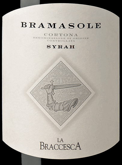 The Bramasole Syrah Cortona DOC from La Braccesca presents itself intensely ruby red in the glass. On the nose it surprises with aromas of ripe red berries and a good balance of spices and tobacco. On the palate, this magnificent red wine opens up its full potential with an abundance of impressions, complex aromas, structured character, rich, fruity, balanced body. The finish is very long, persistent and soft. Vinification of Bramasole Syrah Cortona DOC from La Braccesca With this wine from 100% Syrah the potential of this terroir is shown once more. Here the Syrah feels well on clayey, barren, dry soils at the foot of the hill of Cortona. The Syrah grapes for Bramasole come from the vineyard's sunniest location. A wine that develops over time and tells the story of a new grape variety in an old and traditional wine-growing region. After selective manual grape harvesting, destemming and gentle pressing, the must is transferred to stainless steel tanks for alcoholic fermentation. The maceration on the skins takes place first at low temperatures in order to extract the aromatic components in the best possible way, then at a controlled temperature of 28°C in order to obtain tannins and colour. The wine is left on the skins for about 20 days before being transferred into French barriques new and used in a second run for malolactic fermentation. This is followed by maturation in barriques for 18 months and, after bottling, in the second spring after the harvest, and further maturation in the bottle for 14 months. Only then is the Bramasole ready for sale. The Bramasole has a storage potential of approx. 10 years. It is recommended to open it 2 hours before serving. Food pairing for Bramasole Syrah Cortona DOC from La Braccesca A powerful, elegant wine from Tuscany that is a perfect accompaniment for tasty and spicy dishes with red meat and game, spicy vegetable dishes, mature cheeses. Awards for the Bramasole Syrah Cortona DOC from La Braccesca Bibenda: 5 grapes for 2012