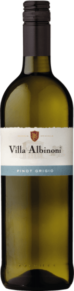The Pinot Grigioby Villa Albinoni presents itself in a light straw yellow in the glass and unfolds its typical bouquet. This white wine enchants with its wonderfully fruity aroma of apple and citrus fruit, which are accompanied by subtle floral notes. On the palate, this Pinot Grigio is pleasantly delicate, fruity and lively freshness. Vinification for the Pinot GrigioofVilla Albinoni The grapes for this Pinot Grigio come from vineyards with dry, loamy and calcareous soils. The climate is Mediterranean, with hot dry summers and mild humid winters. After selective harvesting, the grapes are gently pressed and fermented and aged in stainless steel tanks under temperature control. Food recommendation for the Pinot GrigioofVilla Albinoni Enjoy this dry white wine as an aperitif or with dishes with fish.