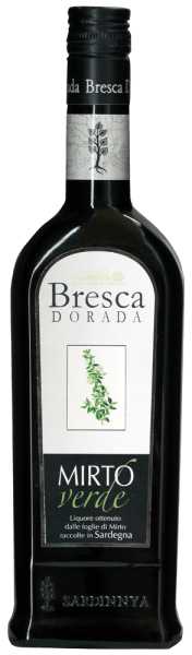 The Mirto Verde by Bresca Dorada is the bright counterpart to the Mirto Rosso and is obtained from the young leaves of the myrtle shrub.  This liqueur from Sardinia delights with its intense aromatic and delicate taste. Due to its low sugar and alcohol content, this liqueur is a suitable companion for many occasions. Serving recommendation for the Bresca Dorada Mirto Verde Enjoy the Mirto Verde well chilled.