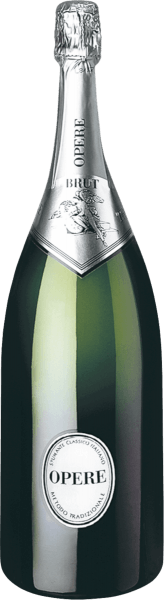 The Opere Brut from Villa Sandi's Opere Trevigiane Spumante Metodo Classico line is straw yellow with greenish reflections. On the nose, this traditionally produced sparkling wine develops a bouquet of delicate fruity aromas, floral accents of small mountain flowers, a slightly nutty note of fresh bread dough, with a very fine perlage in the glass. On the palate it presents itself fresh and full-bodied dry, crisp, slightly salty notes, filgrane and beautifully integrated perlage. Long lasting aftertaste. Vinification of Opere Brut by Opere Trevigiane For this Italian Spumante from Veneto, 70% Chardonnay and 30% Pinot Noir are vinified, which grow in selected wine regions in Veneto. They are aged for 36 months on the yeasts in the bottle according to the classic method of bottle fermentation, known in Italy as Metodo Classico Italiano. Finally, the wine is disgorged to remove the remaining yeast from the sparkling wine, depending on whether it is to be a Brut, Extra-Brut or Demi-Sec, topped up with some spumante with or without dosage, and sealed with the classic sparkling wine cork. Food pairing for the Opere Brut of Opere Trevigiane Enjoy this elegant Italian sparkling wine well chilled as an aperitif, but also as an exquisite accompaniment to light starters and dishes with fish or seafood.