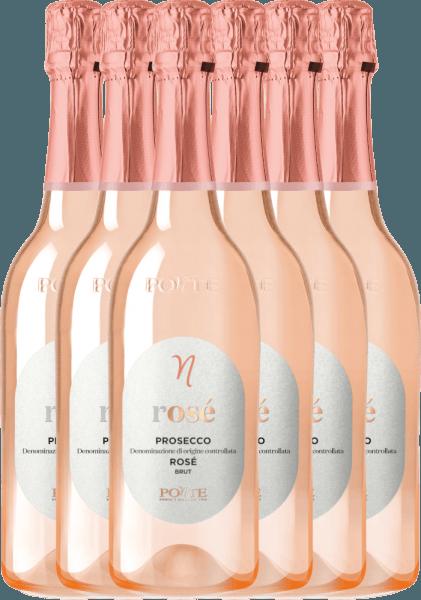 6er Vorteilspaket - Prosecco Spumante Rosé Brut DOC 2020 - Ponte