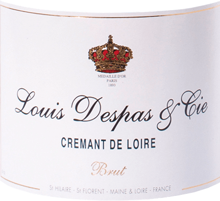 The Crémant de Loire from Louis Despas from the house Bouvet is a full-bodied and fresh sparkling wine from the grape varieties Chenin Blanc (80%) and Chardonnay (20%). This sparkling wine appears pale golden to amber with a very fine, persistent ascending perlage in the glass. The bouquet is fruity and aromatic with delicate hints of brioche and honey. Full-bodied and fresh on the palate, this delicate Crémant de Loire presents itself with good texture and excellent balance. The finish is characterised by finesse and length. Vinification of Louis Despas Crémant de Loire Only the best grapes are selected, which grow in the Maine-Loire areas approved for Crémant. The base wines are produced separately. After the soft pressing and the first alcoholic fermentation of the base wines in stainless steel tanks, they are gently clarified by cold sedimentation and then married to the cuvée before being filled into the bottle for the second fermentation after the méthode traditionnelle. This crémant then matures for many months in the underground chalk limestone cellars of the Saint Hilaire - Saint Florent Abbey. Food recommendation for the Crémant de Loire Louis Despas Enjoy this very balanced French Crémant de Loire as an elegant aperitif, but also as a sophisticated accompaniment to individual courses or a whole meal with fine starters, fish and poultry dishes or cold roasts, mild cheeses or fruity desserts.