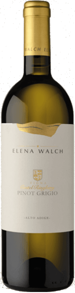 The Pinot Grigio Castel Ringberg by Elena Walch appears in the glass in a bright, clear straw yellow, unfolding its complex bouquet. This is characterized by the aromas of ripe fruits, especially ripe pears, some sage, spicy notes and discreet citrus fruit. The palate of this white wine is elegant and harmonious, with an elegant acid structure and creamy. The long and fresh finish of this wine is mineral and juicy. Vinification for Pinot Grigio Castelringberg by Elena Walch Castel Ringberg is Elena Walch's most important wine cellar. It is located at 350 meters above sea level above Lake Caldaro. The climate is particularly mild here. On the loose moraine floor with clay and limestone portions, wines are created with exceptional authenticity. The grapes for this Pinot Grigio are gently pressed and cleared. One portion of the wine ferments in the steel tank at controlled temperature of about 20 ° Celsius, about 15% of the must is fermented in barrique barrels of French oak with subsequent organic acid degradation. Food recommendation for the Pinot Grigio Castelringberg by Elena Walch Enjoy this dry white wine as an aperitif or with dishes with vegetables and fish. Awards for the Pinot Grigio Castelringberg by Elena Walch (vintage 2016) THE WINE ADVOCATE - Robert Parker: 91+ points Annuario dei Migliori Vini Italiani - Luca Maroni: 91 points Decanter Magazine: 90 points James Suckling: 93 points