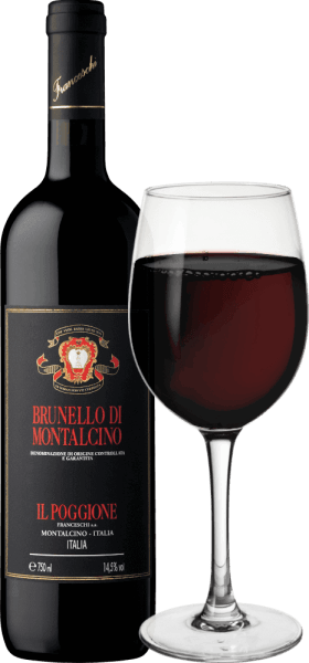 Brunello di Montalcino DOCG by Tenuta il Poggione from the Italian wine-growing region of Tuscany is an excellent, seductive and wonderfully complex red wine, made exclusively from Sangiovese grapes. This wine shines in the glass in a dense ruby red with purple highlights. On the nose this red wine presents itself very intense, long lasting, with concentrated fruity notes of dark and red berries - especially blackberry and raspberry come to the fore - ripe sour cherries and finely underlaid by a spicy note with some tobacco. On the palate this Italian red wine starts very elegant, warm, balanced, with velvety soft tannins and a surprisingly fresh note. The tannins are very well integrated into the complex body and are accompanied by a balanced acidity structure. The finale offers a wonderful, persistent length. This Brunello di Montalcino from Tenuta Il Poggione is convincing all along the line with its complex, great character and has a very good ageing potential. Vinification of the Tenuta il Poggione Brunello di Montalcino Brunello is the king of wines in Montalcino. This red wine is made exclusively from Sangiovese grapes from the oldest vineyards of the estate. After a gentle, temperature-controlled fermentation, Tenuta Il Poggione's Brunello di Montalcino is aged for 30 months in 30 hl and 50 hl French oak barrels, followed by two years of bottle ageing before this royal Italian red wine is released on the market. Recommended food for the Brunello di Montalcino DOCG of Tenuta Il Poggione Enjoy this wonderful, powerful Brunello from Italy with braised beef rump in a dark sauce, glazed pork belly, rabbit leg from the oven or with mature cheeses. Awards for the Tenuta il Poggione Brunello di Montalcino Vintage 2014 Robert M. Parker - The Wine Advocate: 94 points Wine Spectator: 92 points James Suckling: 91 points Wine Enthusiast: 91 points