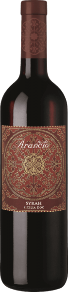 The Syrah from Feudo Arancio from the Italian wine-growing region DOC Sicilia is a pleasing, velvety and vine variety pure red wine. In the glass this wine presents itself in an intense, deep ruby red. Its rich bouquet convinces with aromas of dark berries, cherries and plums. The palate is full-bodied with silky tannins. Opulent aromas of blackberries, raspberries underlaid with fine spices characterize the impression on the palate. The spice is reminiscent of tobacco boxes and black pepper. Elegant nuances of Mediterranean herbs such as thyme can also be heard. A complex, full-bodied Italian red wine with fine elegance and delicate finish. Vinification of the Syrah Feudo Arancio The Syrah grape variety, originating in the Middle East, finds ideal growing conditions in Sicily due to the soil conditions and the strong sun. The grapes are harvested when perfectly ripe. After destemming, the must ferments on the skins for 12 days. Malolactic fermentation also takes place in stainless steel tanks, after which the Syrah is aged in French barriques for 10 months. Food recommendation for the Freudo Arancio Syrah We recommend this dry red wine from Italy with antipasti, swordfish steak, grilled red meat, game, smoked cheese and herb cheese.