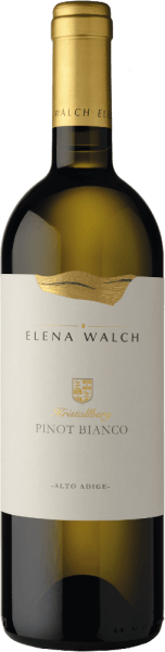 The Pinot Bianco Crystal Mountain by Elena Walch presents itself with a complex bouquet and exudes fruit aromas of green apple and white peach as well as distinct minerality. On the palate, this white wine convinces with its smooth structure and harmony. This wine is soft, elegant and with a long-lasting finish. Vinification of Pinot Bianco Kristallberg by Elena Walch The grapes for this Pinot Bianco grow in Altenburg between Tramin and Caldaro on the ridge of the Mendola Mountains , at 600 meters above sea level, where they benefit from the excellent climatic conditions. The rock structure has numerous smaller and larger crystals of quartz, biotite, porhpyr structures and other minerals. The soft pressing of the grapes is followed by static clarification and fermentation at a controlled temperature of about 20 ° Celsius. 15% of the must is fermented in French oak barrels and matured there for 5 months. The assembly is then carried out in the spring. Food recommendation for Pinot Bianco Kristallberg by Elena Walch Enjoy this dry white wine with grilled or fried fish and poultry, pasta with strong sauces and cheese. Awards for the Elena Walch Kristallberg Pinot Bianco Wine Enthusiast: 92 points for 2015 James Suckling: 92 pointsfor 2015 Falstaff: 91 pointsfor 2015 Guida essenziale ai Vini d´Italia: 93 pointsfor 2015