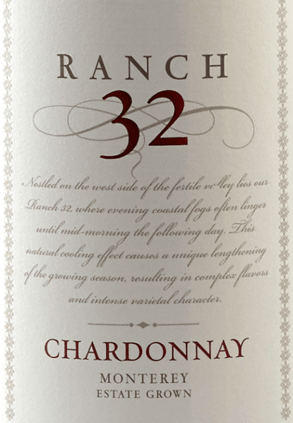 The Ranch 32 Chardonnay by Scheid Vineyards shines in a bright golden yellow. The expressive bouquet presents wonderful aromas of Granny-Smith apples and freshly sliced lime - rounded off by nuances of nutmeg and bourbon vanilla. The palate also enjoys the variety of aromas from the bouquet. The finale of this California white wine is unforgettable harmonious and long. Food recommendation for Scheid Vineyards Ranch 32 Chardonnay Enjoy this Californian white wine with a fine asparagus cream soup, grilled fish with lemon-herb sauce or with guinea fowl with braised vegetables.