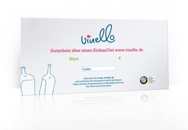 50 € VINELLO Geschenkgutschein im Umschlag, 300g Karton DIN A5 von VINELLO